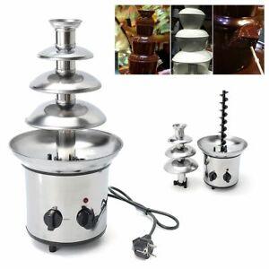 Mini Waterfall Chocolate Fountain 4 Tiers Stainless Steel DIY Melting Machine