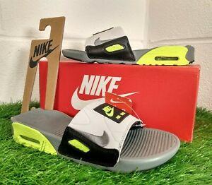 Nike Air Max 90 Womens Slides Volt Siders Pool Beach Slip On Size UK 4.5