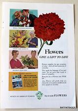 Society of American Florists SAF Flowers  1963 Magazine Print Ads 7 x 10