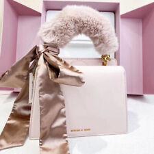 Charles and Keith Pink Bow Woman Handbag Shoulder Bag Detachable Strap Gift Box