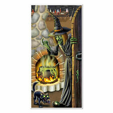HALLOWEEN WITCH'S BREW DOOR COVER PARTY WALL DECORATION POSTER BANNER WITCHS CAT