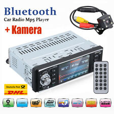 Autoradio 1 DIN 4.1'' Bluetooth Touch Screen MP5 Player RDS FM AUX USB/TF + Kam
