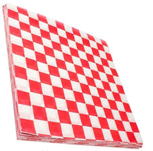 [300 Pack] Retro Deli Sandwich Liner 15x15 Wax Patty Paper Sheets by Avant Grub