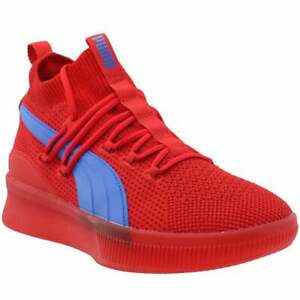Puma Clyde Court Lace Up  Mens  Sneakers Shoes    - Red - Size 8.5 D