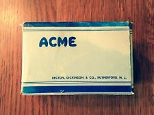 """Vintage """"Acme"""" Bandage Roll- Mid-Century-5 1/2 yds.X 3""""- IN BOX"""
