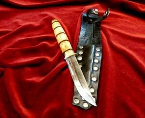 RARE CUSTOM '82 FINLAND PUUKKO HANDMADE BIRCH VINTAGE SWEDEN HUNTING KNIFE /CASE