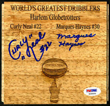 Curly Neal Marques Haynes SIGNED Floorboard Globetrotters PSA/DNA AUTOGRAPHED