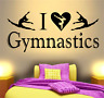 GIRLS BEDROOM I LOVE GYMNASTICS GYMNAST QUOTE WALL ART DECAL STICKER HOME DECOR