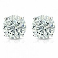 GIA Certifié 0,60 Carats Naturel Diamants Clous Boucles d'oreilles En 750 18K Or
