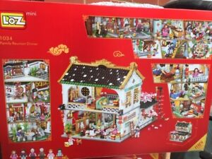 Family Reunion Dinner House 3581pieces,  Loz Building Bricks with original box