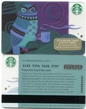 2014 NEW - UNUSED Night Owl with Coffee Starbucks Cards