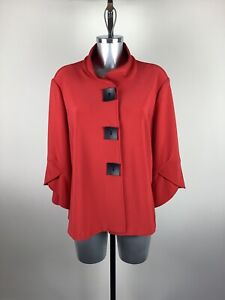 Joseph Ribkoff Jacket Size 18 BNWT Red 3/4 Sleeves RRP £246 Now £110