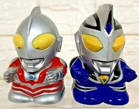 RARE VINTAGE ULTRAMAN HERO & ULTRAMAN AGUL BATTERIES RACING TOY BANPRESTO 1999