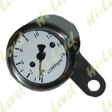 Custom Mini Electronic Tacho 48mm White face Stainless up-to 16000RPM BC25466 T