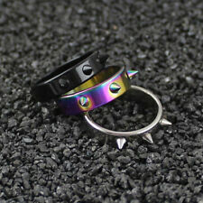 Rivet Spike Ring Jewelry Size 16-21 Punk Style Mens Fashion Stainless Steel
