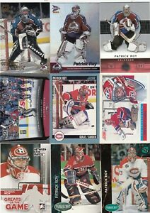 PATRICK ROY a lot of 9 DIFFERENTS CARDS near mint   LOT 64