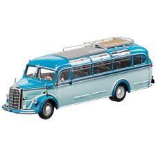 MERCEDES BENZ O 3500 Oldtimer Bus 1949 AZUL 1:43 NUEVO Minichamps EMBALAJE