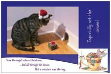 20 CHRISTMAS Santa CAT Mouse Cats PRESENT Humorous Greeting  Post Cards Card