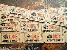 20 Kraft Brown Admit One Circus Tickets Wedding Favour Birthday Christening