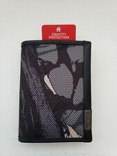 TUMI Alpha SLG RFID ID Lock Gusseted Card Case/Wallet -  Gray Camo Print - NIB