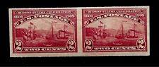US 1909 Sc# 373 Hudson-Fulton Imperf Pair Mint VLHR - Crisp Color