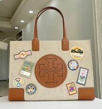 TORY BURCH ELLA CANVAS PATCHES TOTE 64940   Tracking No.