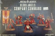 Warhammer 40K Adeptus Astartes BLOOD ANGELS COMPANY COMMAND Squad, New