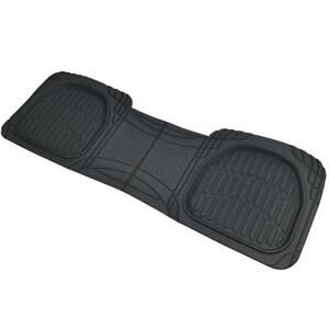 Premium Rubber Rear Liner Car Floor Mats Heavy Duty Sedan Truck SUV, Black