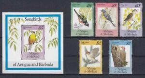 D.Antigua & Barbuda 795-99+ Block 61 Bird - Birds (MNH)