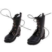 1/6 Scale Male Combat Shoes Boots for 12'' Hot Toys Action Figure Black