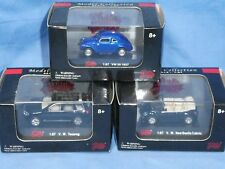 LOT OF 3 MALIBU INTERNATIONAL 1:87  V.W  BEETLE TOUAREG 1937 VW 30