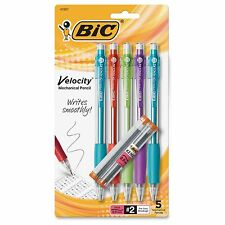 Bic Mechanical Pencil,Refillable,Rubbergrip,.9mm,5/PK,Assorted MVP51