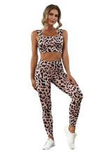 Leopard print gym legging set sport yoga running fitness set size SMALL, UK 8