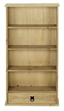 Corona 1 Drawer DVD Rack / Storage Bookcase - Mexican Solid Pine, Distressed