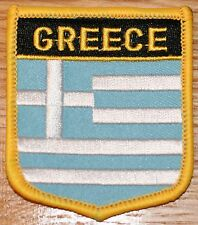 GREECE Shield Country Flag Embroidered PATCH Badge P1