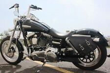 Harley DYNA LEFT Side BLACK SOLO BAG Saddlebag - DL02 BAD&G CustomS