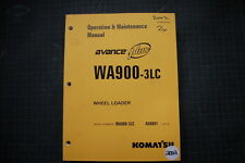 Komatsu AVANCE WA900-3LC Wheel Loader Operation/Operator Maintenance Shop Manual