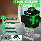 4D 16 Line Laser Level Auto Self Leveling 360° Rotary Cross Measure Tool w/base