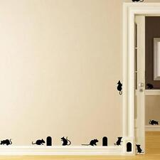 Novelty Mouse Cave Living Room Background Home Decor Stairs Wall Sticker Decor Z