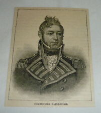 1884 magazine engraving ~ COMMODORE WILLIAM BAINBRIDGE ~ 3x4 inches