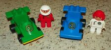 LEGO - Duplo Car - 2 Formula One Race Cars with 2 Driver Figures
