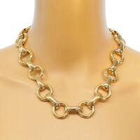 NEU Statement Kette Halskette blogger Collier Choker Glieder Vintage Panzer gold