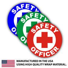 3x Safety Officer Hard Hat Decal Label Helmet Sticker Laborer Osha Foreman