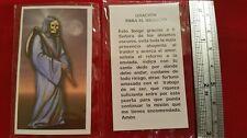 Oracion De La Santa Muerte Negocio Holy Death Holy Prayer Card Spanish Estampas