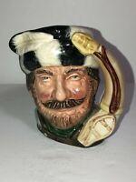 """Vintage Royal Doulton Small Toby Mug Jug The Trapper D6612 4"""" See Pics!"""