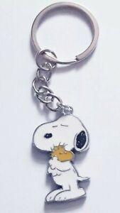 SNOOPY & WOODSTOCK Best Friends Peanuts Cute Beagle Dog Keyring Keychain Gift UK
