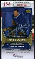 Johnny Bower JSA Coa Hand Signed 2007 Upper Deck Autograph