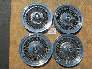 """1964,1965, 1966, BUICK LESABRE 15"""" WIRE SPINNER WHEEL COVERS HUBCAPS, SET OF 4"""