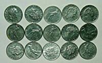 ITALY Coin Lot - 50 LIRE - Hammer and Anvil - Lot of 15 - Free Shipping! (IT07)