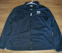 Vintage USA Olympic committee Mens Blue Zip Up Jacket size  XL EUC